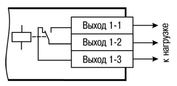 Схема подключения нагрузки к