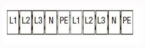 Кулачковый переключатель кпу11-10/68 (v: 0-l1n-l2n-l3n) tdm